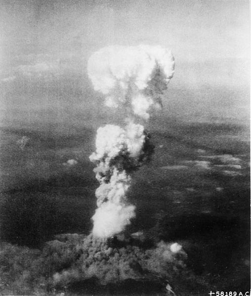 Bomba atómica sobre Hiroshima en Japón