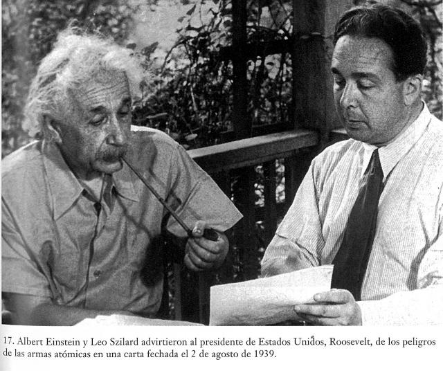Albert Einstein y Ló Szilárd Carta a Roosevelt Bomba Atomica