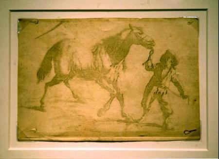 Niepce, tirando de un caballo